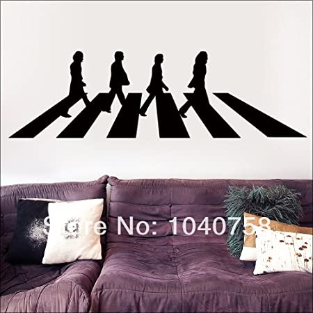 new - The Beatles Abbey Road Vinyl Wall Stickers Decals Home Decor London Poster Adesivo De : beatles wall decals - www.pureclipart.com