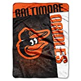 "Northwest MLB Baltimore Orioles Strike Raschel Throw Blanket, 60"" x 80"""