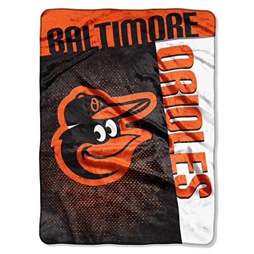 - Officially Licensed MLB Baltimore Orioles Strike Raschel Throw Blanket, 60