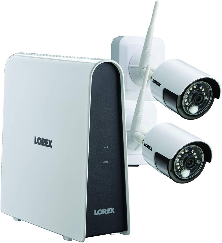 Lorex LHB80632GC2W Wire-Free 6-Channel HD DVR with 2 Cameras, White