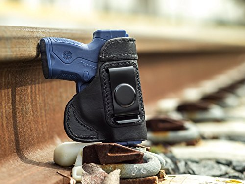 OutBags USA LS3NANO (BLACK-RIGHT) Full Grain Heavy Leather IWB Conceal Carry Gun Holster for Beretta Nano 9mm. Handcrafted in USA. (Beretta Nano Best Price)