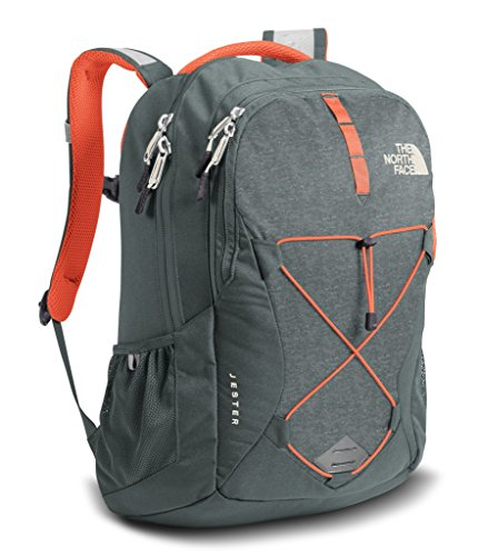 The North Face Women's Jester Backpack - Sedona Sage Grey Light Heather/Nasturtium Orange - One Size (Past Season)