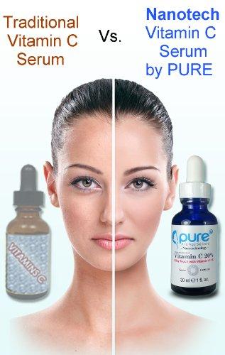 La vitamine C Serum 20 pour le visage - Anti Aging sérum contient naturel puissant 20% ACE vitamines et acide hyaluronique laissera votre peau radieuse et jeune - Meilleur Anti-rides, Solution instantanée ascenseur, protection UV, réduire l'acné - La plus