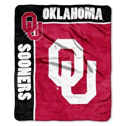 Officially Licensed NCAA Oklahoma Sooners School Spirit Plush Raschel Throw Blanket, 50