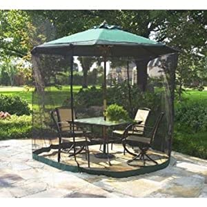 PATIO UMBRELLA MOSQUITO NET 9FT UMBRELLA BLACK