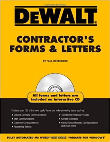 DEWALT/® Contractors Forms /& Letters
