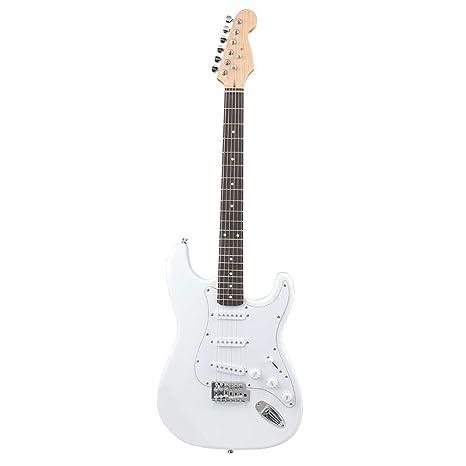 NUYI-4 Guitarra eléctrica Genuina Serie ST Guitarra eléctrica Blanca ...
