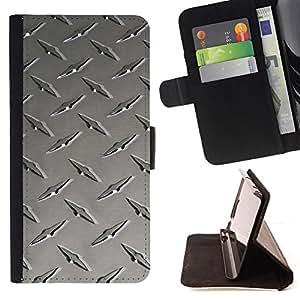 BullDog Case - FOR/Apple Iphone 5C / - / Metal nail texture /- Monedero de cuero de la PU Llevar cubierta de la caja con el ID Credit Card Slots Flip funda de cuer