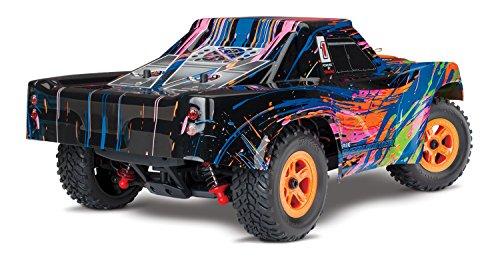 Traxxas Latrax Electric 4WD 1/18 Scale Desert Prerunner Remote Control Race Truck, Burst