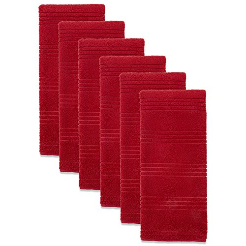 J&M Home Fashions Microfiber Multi-Purpose Cleaning Towels, Set of 6, 16x26