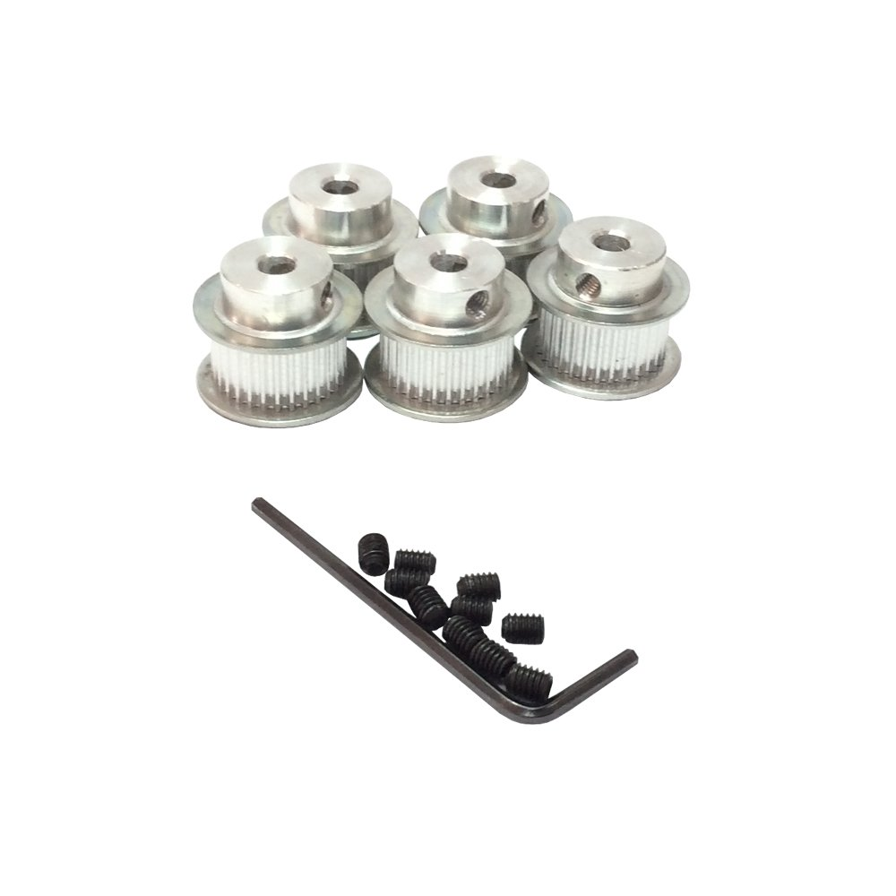Bemonoc 2gt Gt2 36 Teeth Timing Pulleys Bore 5mm 8mm For Open Pulley 40 10mm Belt 6mm Width 9mm 3d Printer Parts 5pcs Pack Industrial Scientific