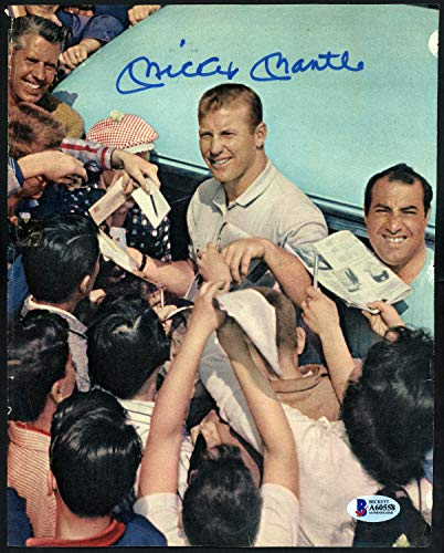 Mickey Mantle Autographed Signed Memorabilia 8x10 Magazine Page Photo New York Yankees - Beckett Authentic ()