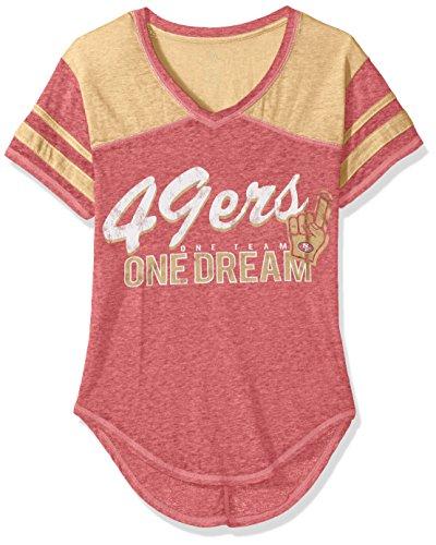 Outerstuff NFL NFL Junior Girls Vintage Short Sleeve Football Tee, Crimson, Large(11-13)