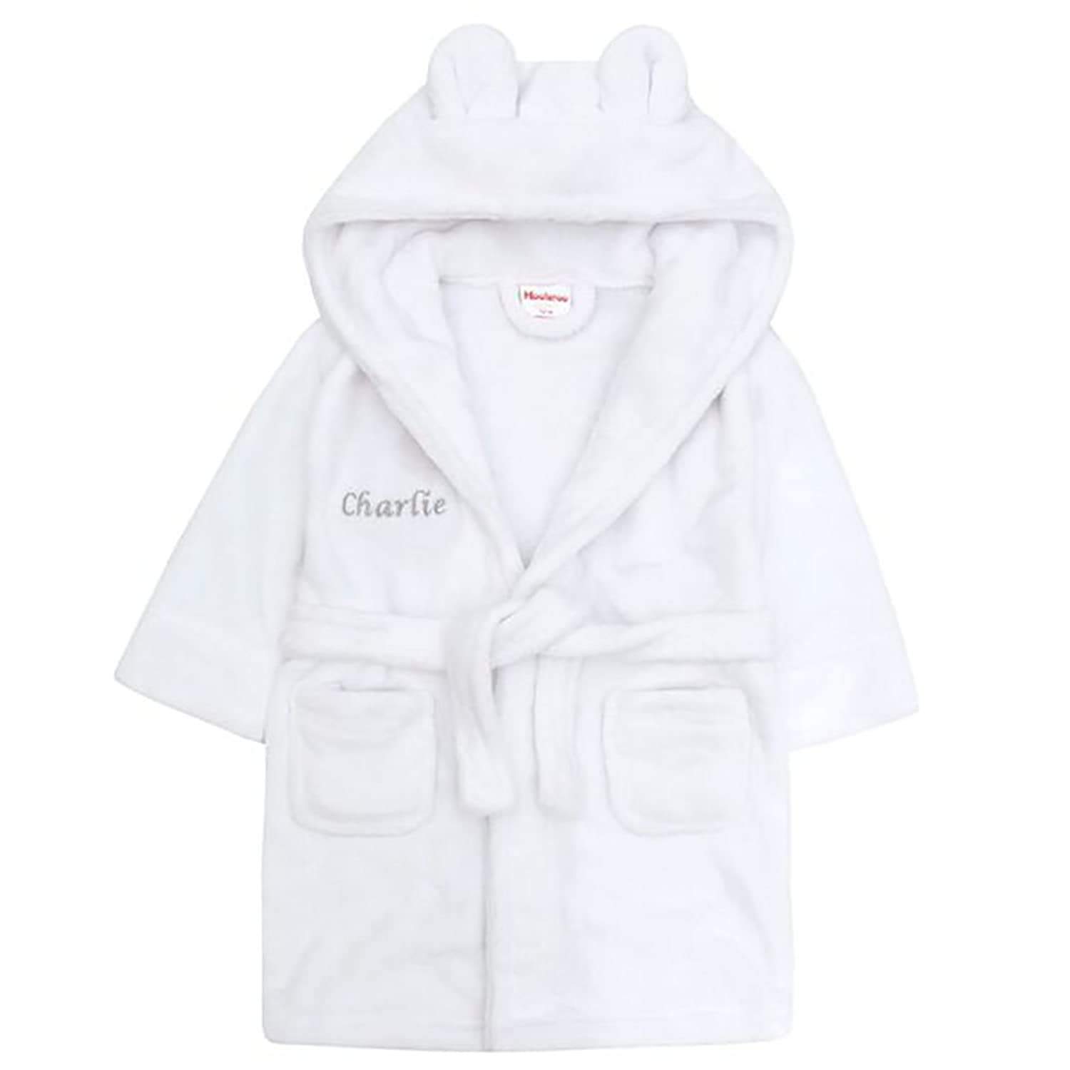 personalised baby bathrobe pink or blue age 6 months: Amazon.co.uk: Baby