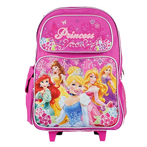 Princesses Rolling Backpack Embossed Character