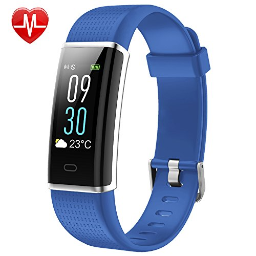 Willful Fitness Tracker Color Screen, Activity Tracker Fitness Watch Heart Rate Monitor Pedometer Watch IP68 Waterproof with Sleep Monitor Step Counter Multi-sport Mode for Women Men Kid (Blue)