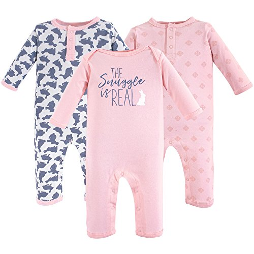 (Yoga Sprout Baby Cotton Union Suit, Snuggle Bunny 3Pk, 6-9 Months (9M))