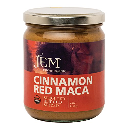 Jem Raw, Vegan, Organic Cinnamon Red Maca Almond Butter Spread 16 oz
