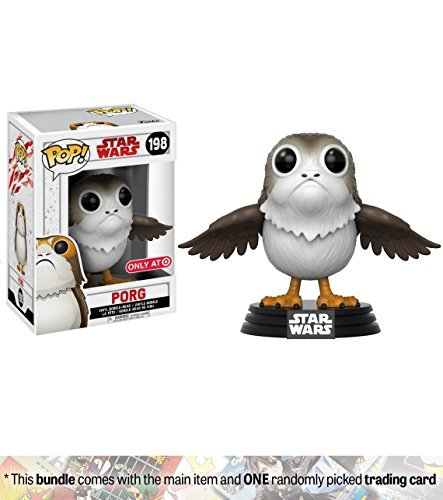 Funko PORG (Target Exclusive) POP! x Star Wars - The Last Jedi Vinyl Figure + 1 Official Star Wars Trading Card Bundle [#198]