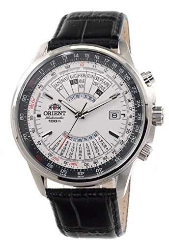 Orient Sports Automatic Multi-Year Calendar Cream White Dial Watch EU0700DW