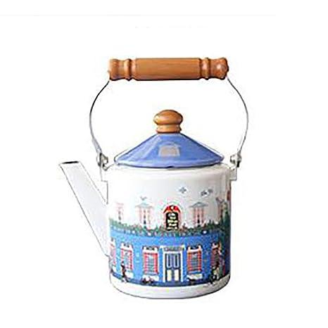 Heqiangqiang Tetera de Cocina con Esmalte Europeo para el ...