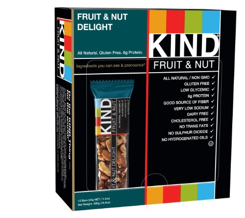 KIND Bars, Fruit & Nut, Gluten Free, Low Sugar, 1.4oz, 12 Count