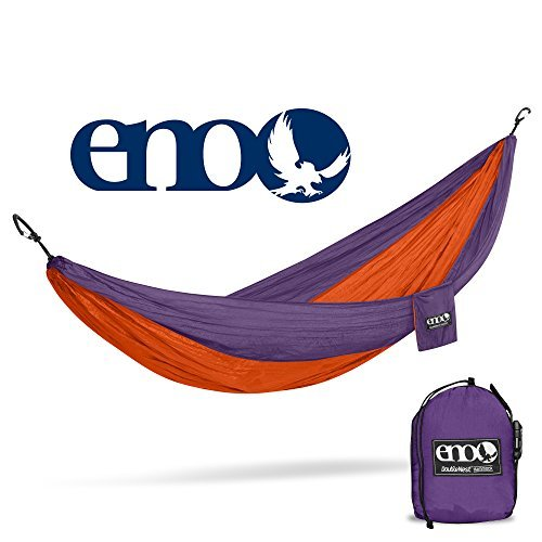 ENO Eagles Nest Outfitters - DoubleNest Hammock, Portable Hammock for Two, Orange/Violet