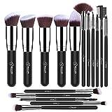 Beauty : BESTOPE Makeup Brushes 16 PCs Makeup Brush Set Premium Synthetic Foundation Brush Blending Face Powder Blush Concealers Eye Shadows Make Up Brushes Kit (Sliver)