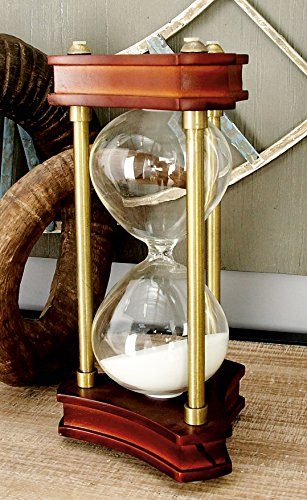 Deco 79 Beautifully Carved Wood Metal Glass Sand Timer by Deco 79 (Image #2)