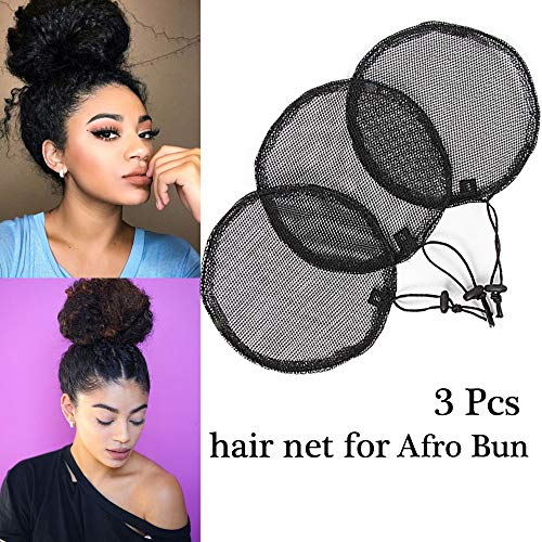 AliLeader 3 Pcs Wig Cap For Making Afro