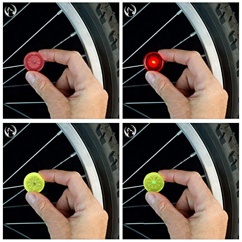 7TECH Bright Led Bike Wheel Light LED Mini Spoke Lights 4 Pack