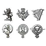 Tartanista Chrome Metal Cap Badges for S
