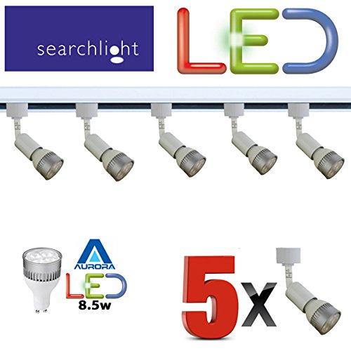 biard 2m black single circuit led track light kit with 6 x 7w lights