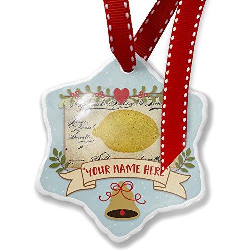 Add Your Own Custom Name, Le citron, lemon, Vintage Christmas Ornament NEONBLOND ()