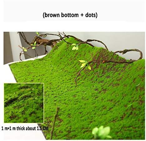 人工芝芝生モスマット、1.5cmパイル高1m×1mサイズ盆栽植物壁装飾 (Size : 2pack)
