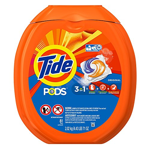 Tide PODS Original Scent HE Turbo Laundry Detergent Pacs hiOrLMz, 81-load Tub 3 Pack by Tide