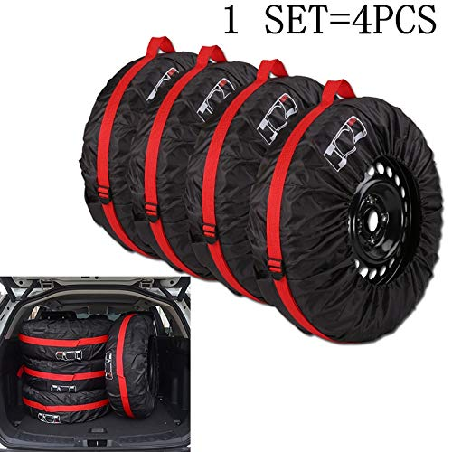 Bingo Point 4Pcs/Lot Car Spare Tire Cover Case Polyester Auto Wheel Tires Storage Bags Vehicle Tyre Accessories Dust-Proof Protector by Bingo Point (Image #6)