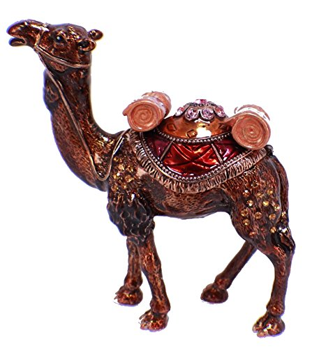 znewlook Camel Crystals Jewellery Jewelry Trinket Ring Box ()