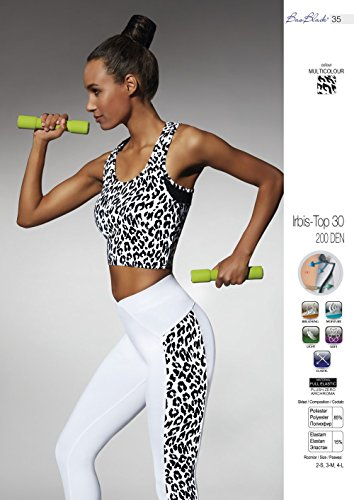 Bas Black Irbis Top 30 Sport Top Fitness Jogging Panther Muster (Multicolor)