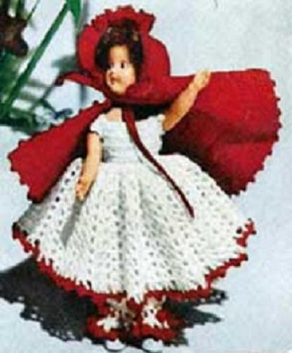 Little Red Riding Hood Patterns (LITTLE RED RIDING HOOD DOLL Vintage 1951 Crochet Pattern - Fairy Tale, Toy...Kindle eBook Download)