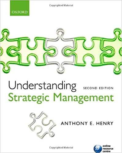 Understanding Strategic Management by Henry Anthony (2011-04-11)