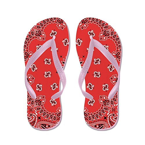 CafePress Red Bandana - Flip Flops, Funny Thong Sandals, Beach Sandals Pink
