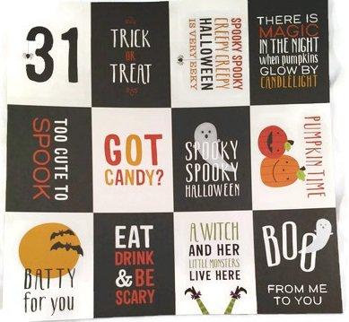Halloween Oct 31st Pocket Pages 12x12 Scrapbook Paper - 4 -
