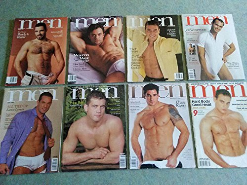 Lot of 8 Men Magazines from 2000-2003 [Studs, Hairy Daddies, Nude Bodybuilders] -
