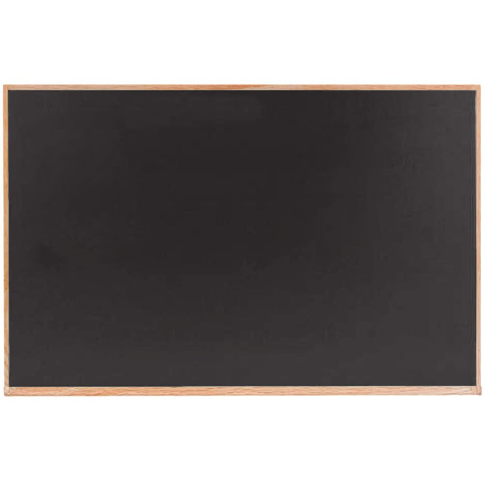 TableTop King OC4860B 48'' x 60 Black Solid Oak Wood Frame Slate Composition Chalkboard