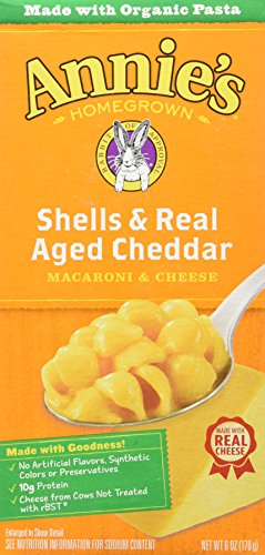 Aged Wisconsin Cheddar - Annie's Homegrown Shells and Real Aged Wisconsin Cheddar, 6 Ounce, 6 pk