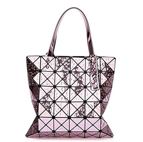 KJHGYBH Japan Bao 66 Bag Women's Geometric H Bag Drops of Water Style Prism Basic Totes Bao Hologram Cube Shoulder Bags Pink