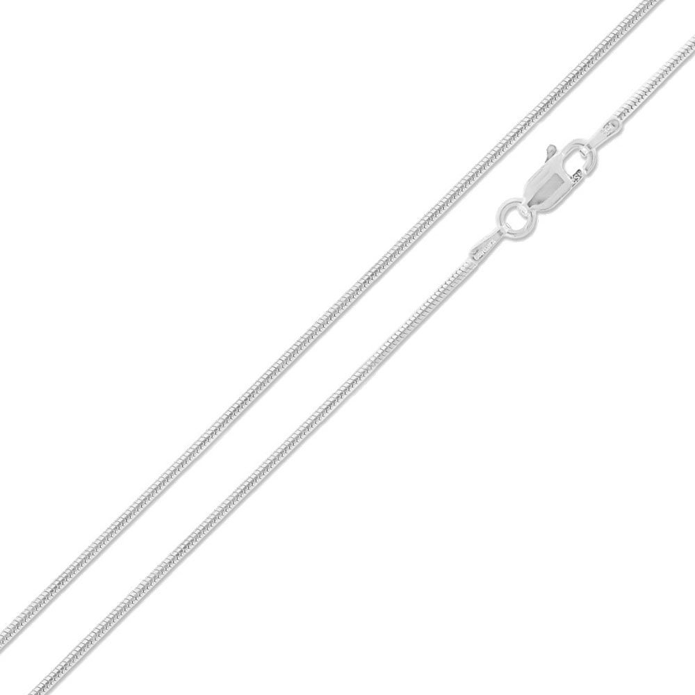 Made in Italy SURANO DESIGN JEWELRY 1mm Sterling Silver Round Snake Chain Necklace