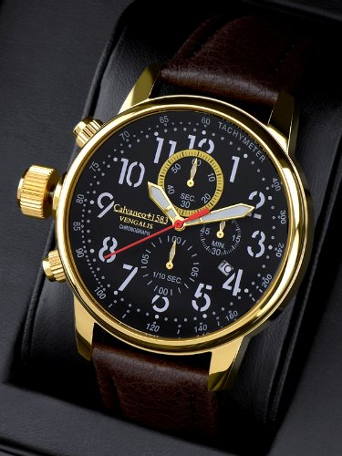 Calvaneo 1583 Vengalis Gold Spirit - Leftside Chronograph Komplikation