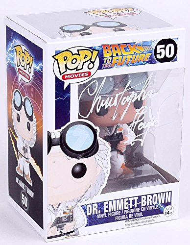 CHRISTOPHER LLOYD SIGNED BACK TO THE FUTURE EMMETT BROWN FUNKO POP! VINYL FIGURE